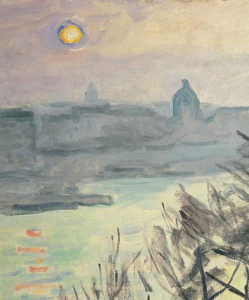 Painting - Sun Over Paris. Quai Du Louvre, By by Mondadori Portfolio