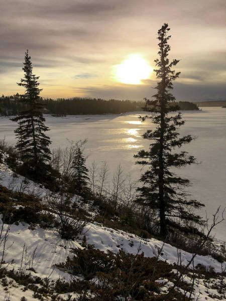 Photograph - Sun Over The Glenmore Reservoir by Karen Rispin
