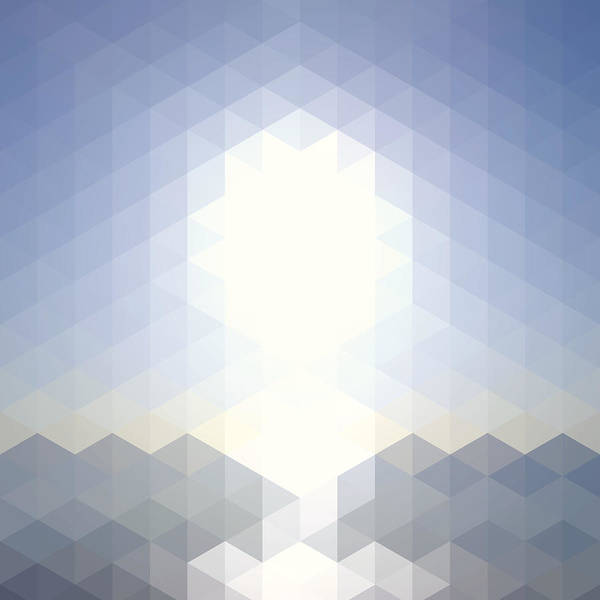 Stained Glass Digital Art - Sun Over The Sea - Abstract Geometric by Bgblue