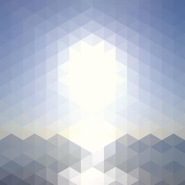 Digital Art - Sun Over The Sea - Abstract Geometric by Bgblue
