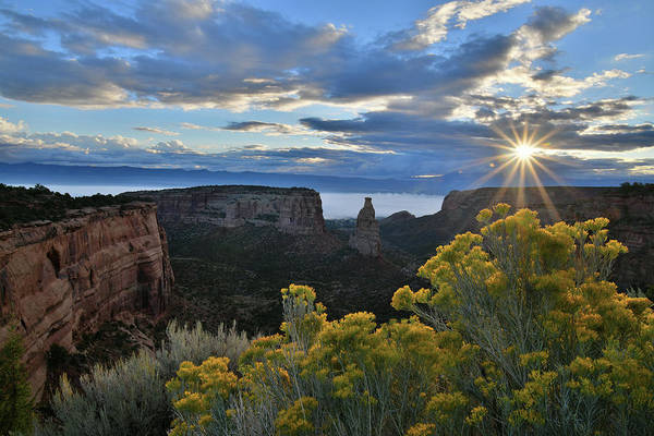 Fruita Photograph - Sun Peaks Through On Colorado National Monument by Ray Mathis
