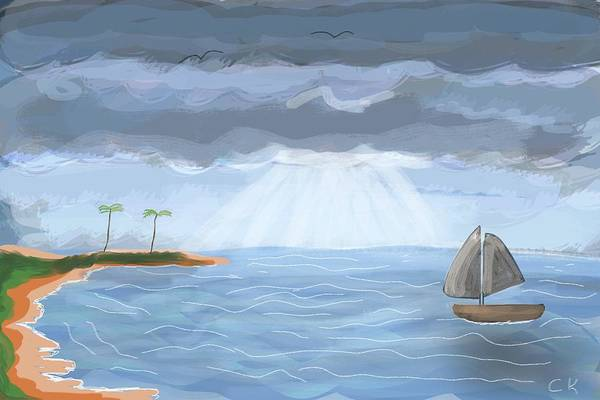 Digital Art - Sun Ray Seascape  by Chance Kafka