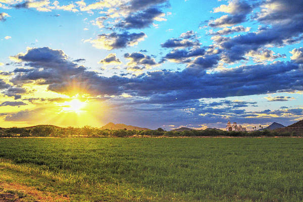 Photograph - Sun Rays And San Xavier Mission by Chance Kafka