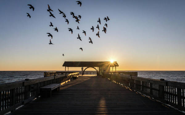 Photograph - Sun Rays On The Pier by Framing Places