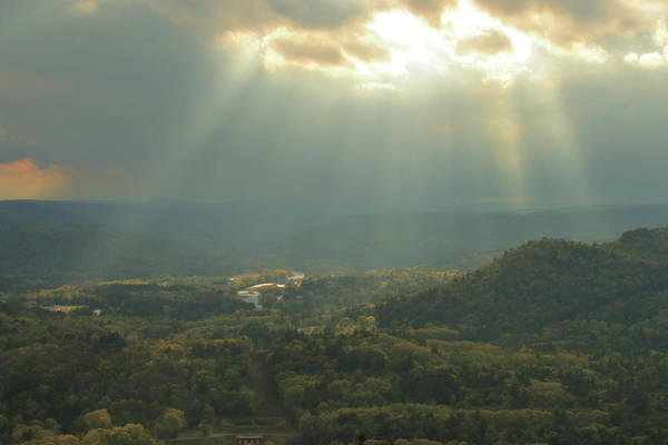 Wall Art - Photograph - Sun Rays Over The Deerfield River by John Burk
