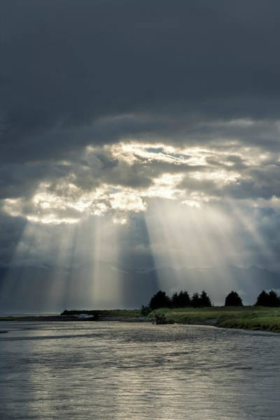 Wall Art - Photograph - Sun Rays Shining Down Over Eagle River by John Hyde