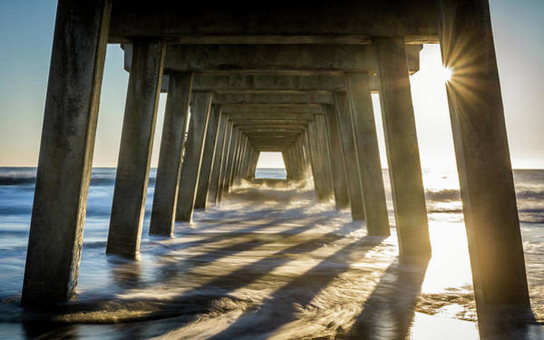 Photograph - Sun Rays Under The Pier by Framing Places