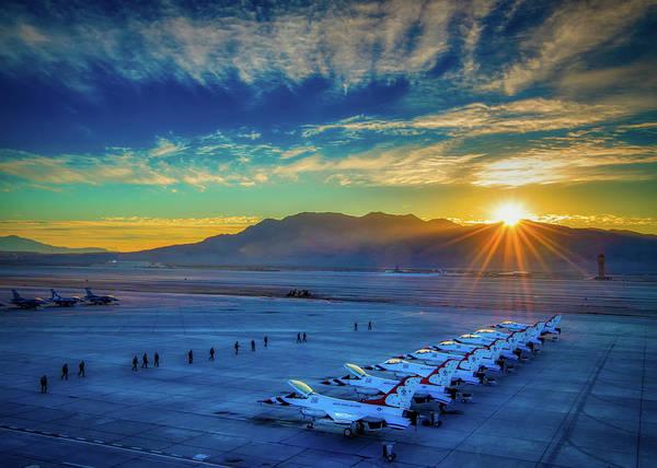 Wall Art - Photograph - Sun Reflecting On The Thunderbirds by U S A F
