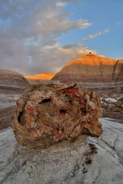 Photograph - Sun Sets On Blue Mesa Overlook by Ray Mathis