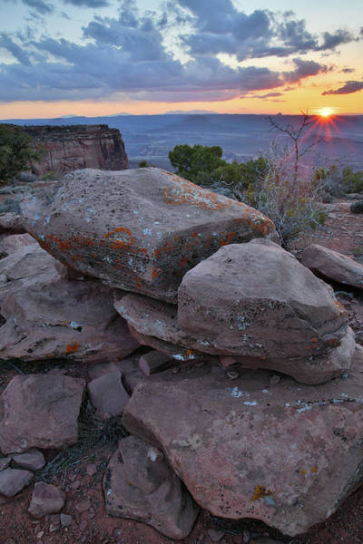 Photograph - Sun Sets On Orange Cliffs In Canyonlands by Ray Mathis