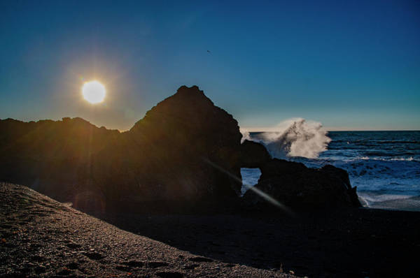 Photograph - Sun Setting On Black Sands Beach - Shelter Cove California by Bill Cannon