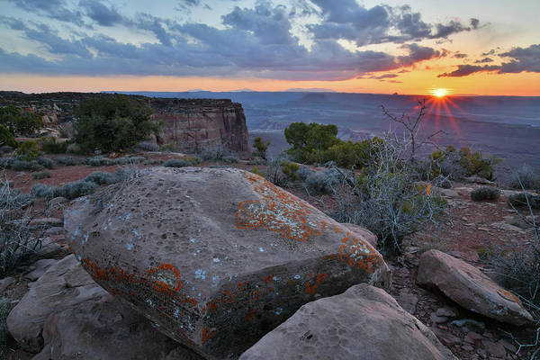 Photograph - Sun Setting On Canyonlands National Park by Ray Mathis