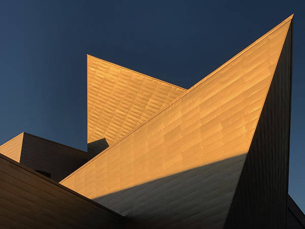 Photograph - Sun Setting On Denver Art Museum by Marilyn Hunt