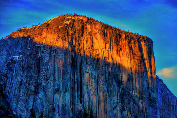 Wall Art - Photograph - Sun Setting On El Capitan by Garry Gay