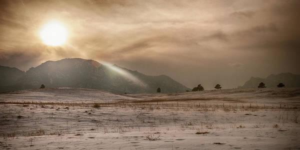 Photograph - Sun Setting On The Mountain by Dan Urban