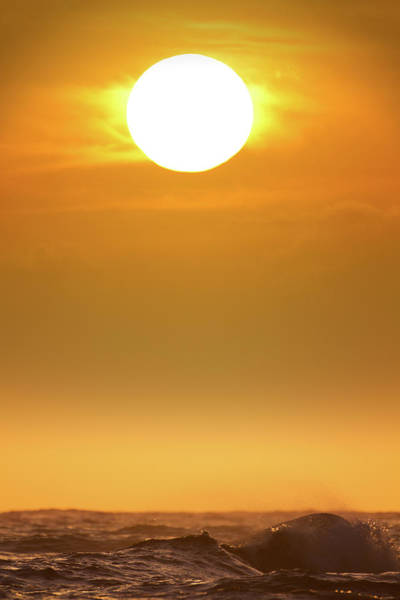 Fuel Element Photograph - Sun Setting Over Ocean, High Resolution by Jimkruger