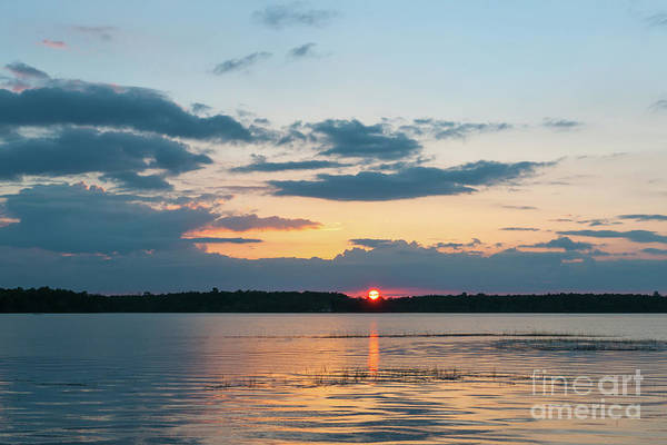 Photograph - Sun Setting Over The Wando River In Charleston County by Dale Powell