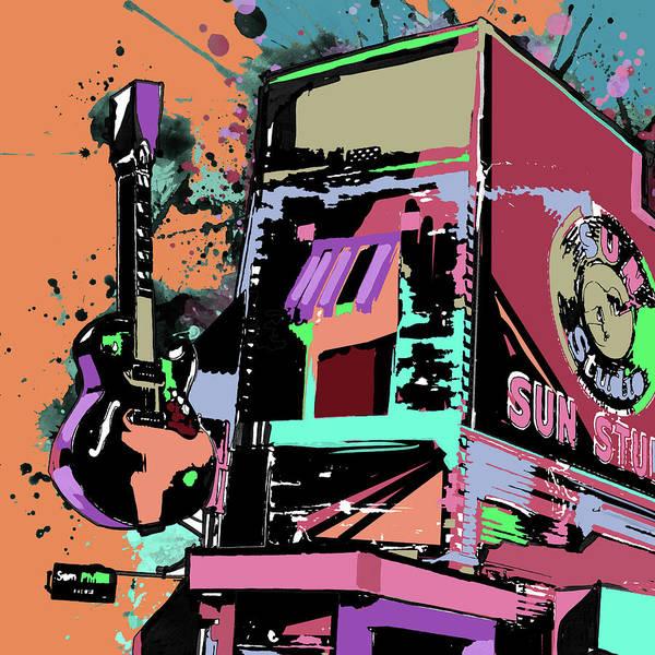 Wall Art - Digital Art - Sun Studio Colorful by Bekim M