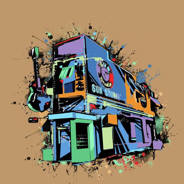 Wall Art - Digital Art - Sun Studio Memphis Pop Art by Bekim M