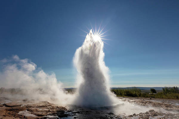 Photograph - Sun Swallowing Geyser by Pierre Leclerc Photography