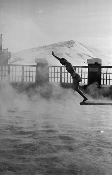 Diving Board Photograph - Sun Valley Lodge by Alfred Eisenstaedt