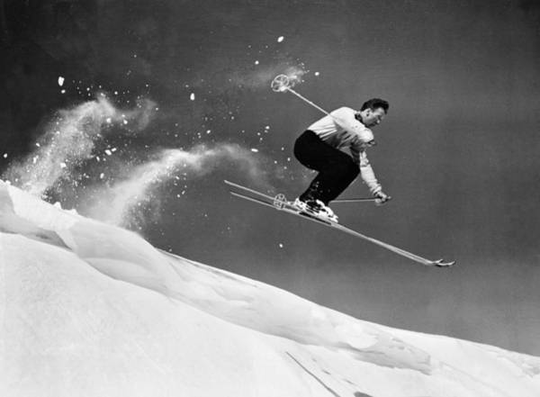 Ski Jumping Photograph - Sun Valley Skier by Keystone