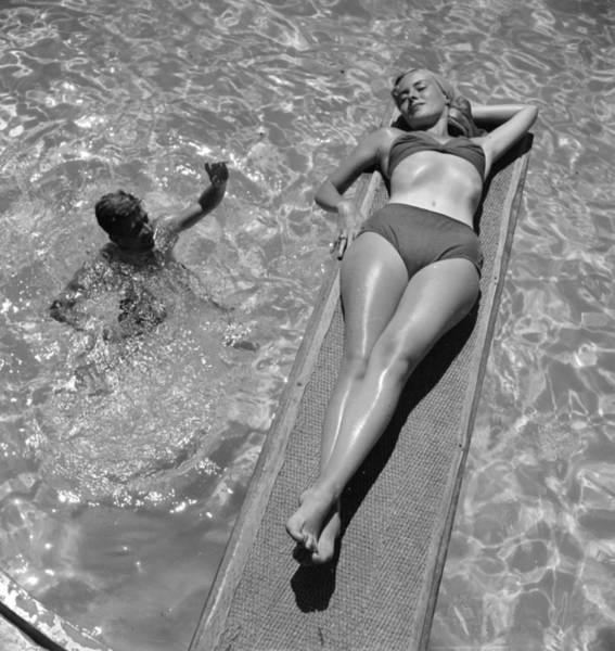 Diving Board Photograph - Sun Worship by Three Lions