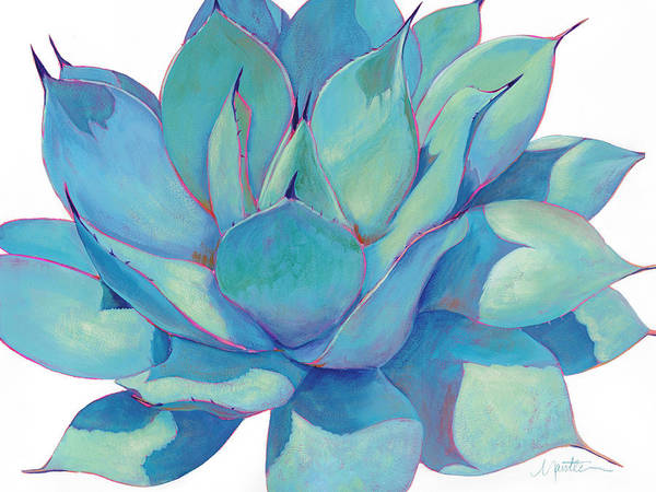 Agave Painting - Sun Worshiper by Athena Mantle
