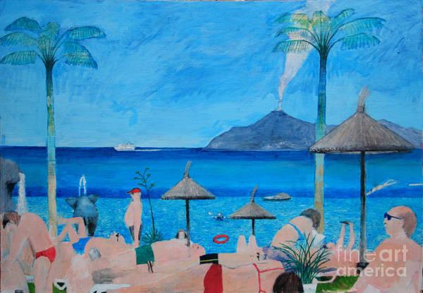 Sunbather Wall Art - Digital Art - Sunbathers by Andy  Mercer