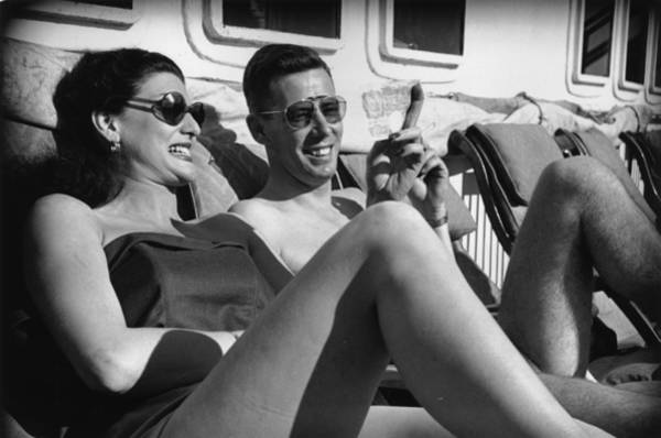 Heterosexual Couple Photograph - Sunbathers by Bert Hardy