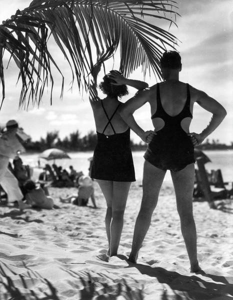 Bermuda Photograph - Sunbathing, Bermuda by The New York Historical Society