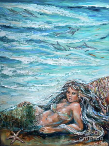 Painting - Sunbathing In Cove by Linda Olsen