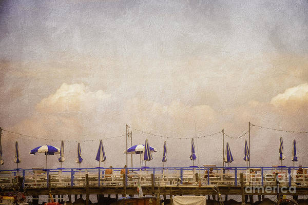 Photograph - Sunbathing On The Pier - Sorrento  by Mary Machare