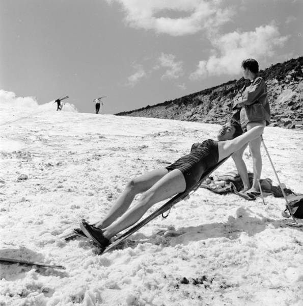 Photograph - Sunbathing Skier by Don