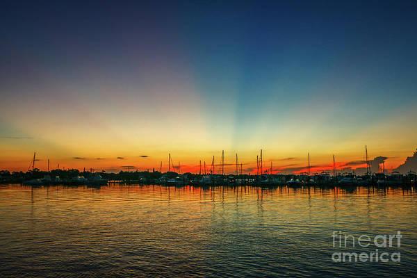 Photograph - Sunbeam Marina Sunrise by Tom Claud