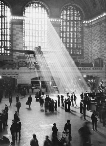 Photograph - Sunbeams In Grand Central Terminal Over by Bettmann