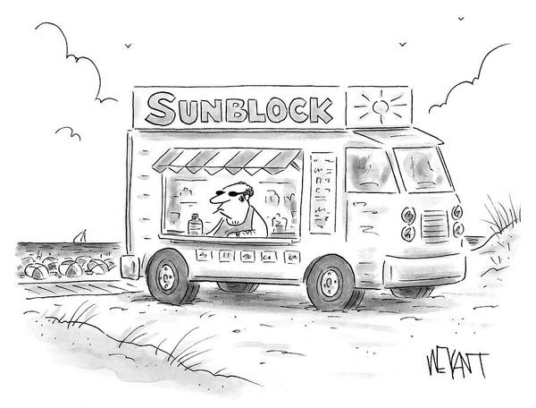 Wall Art - Drawing - Sunblock by Christopher Weyant