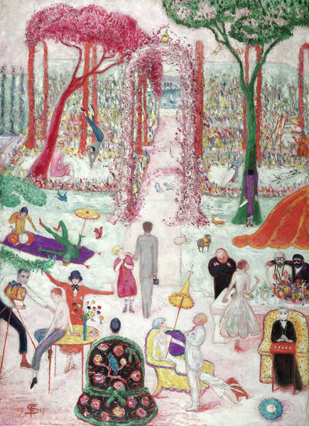 Sunday Afternoon Wall Art - Painting - Sunday Afternoon In The Country, 1917 by Florine Stettheimer