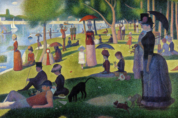 Sunday Painting - Sunday Afternoon On The Island Of La Grande Jatte, 1886 by Georges Seurat