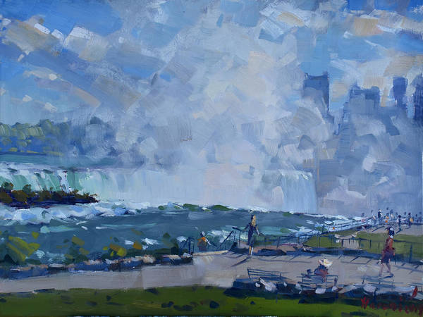 Wall Art - Painting - Sunday At Horseshoe Falls by Ylli Haruni