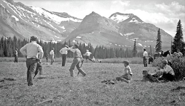 Painting - Sunday Baseball Game Outside Mountain Park, Alberta, Ca. 1925 By Charles Lee by Charles Lee