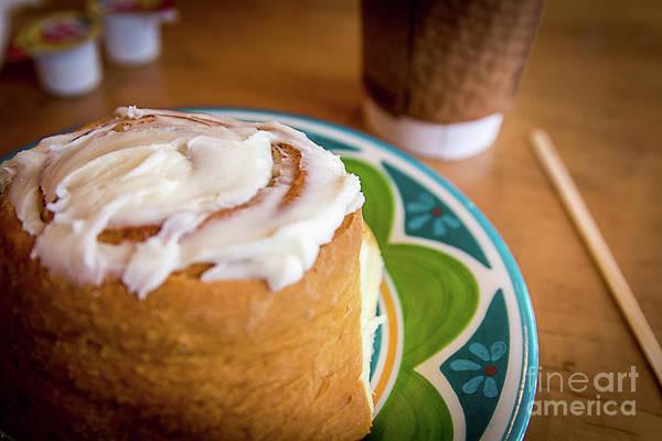 Cinnamon Buns Photograph - Sunday Morning...  Cinnamon Roll by Deborah Klubertanz