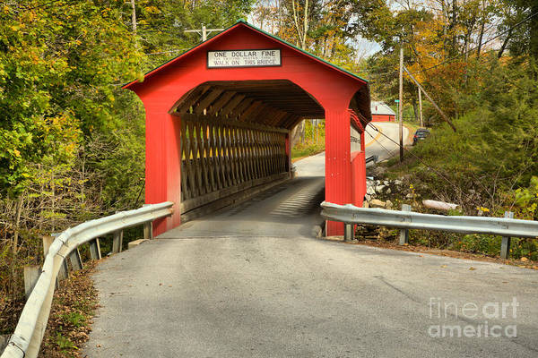 Photograph - Sunderland Road Covered Bridge by Adam Jewell