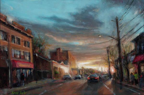 Neighborhood Painting - Sundial by Sarah Yuster