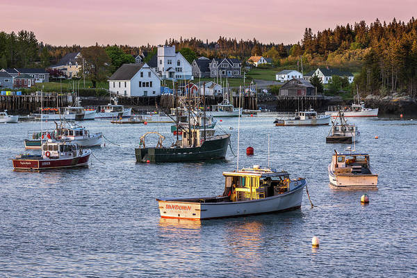 Photograph - Sundown At Cutler, Maine by Colin Chase