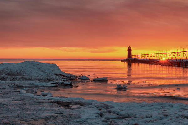 Wall Art - Photograph - Sundown At South Haven by Mike Griffiths