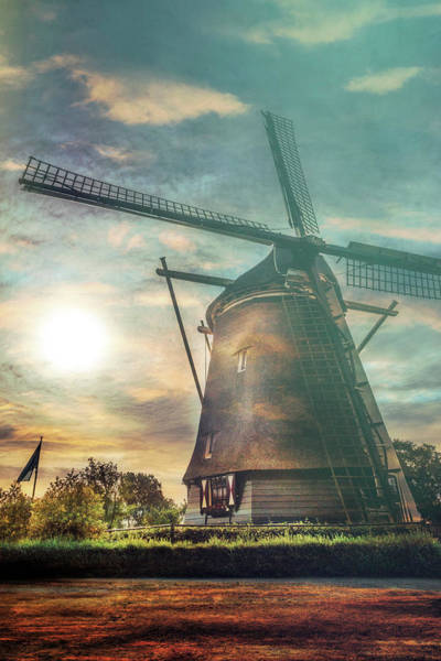 Photograph - Sundown Over Holland In The Mist by Debra and Dave Vanderlaan