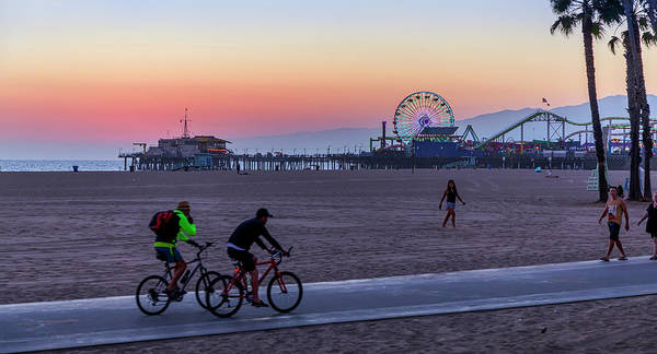 Photograph - Sundown Ride To The Pier by Gene Parks