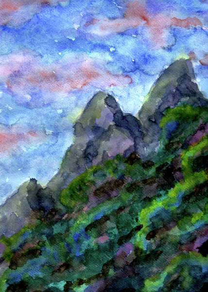 Painting - Sundowner Mountain by ZeichenbloQ
