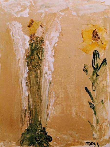 Painting - Sunflower Angel by Jennifer Nease